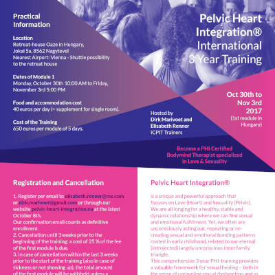 Internationale 3-Jarige Opleiding in Pelvic-Heart Integration®